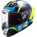 LS2 FF805 THUNDER Racing 1 Blue HV Yellow