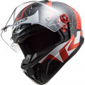 LS2 FF805 THUNDER Racing 1 Red White
