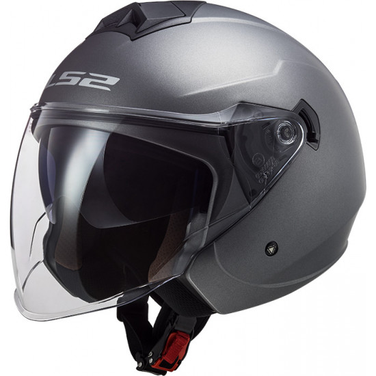 Casco jet LS2 OF573 TWISTER II Solid Matt Titanium