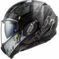 Casco convertible LS2 FF900 Valiant II Gripper Matt Titanium