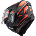 Casco convertible LS2 FF900 Valiant II Revo Matt Titanium Fluo Orange