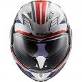 Casco convertible LS2 FF900 Valiant II Revo White Red Blue
