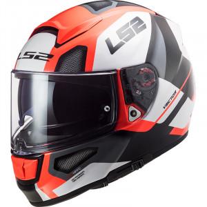 Casco integral LS2 Helmets FF397 VECTOR HPFC EVO Automat White Fluo Orange