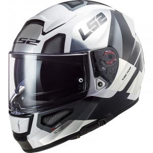 Casco integral LS2 Helmets FF397 VECTOR HPFC EVO Automat White Titanium