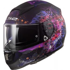 Casco integral LS2 Helmets FF397 VECTOR HPFC EVO Cosmos Matt Black Pink