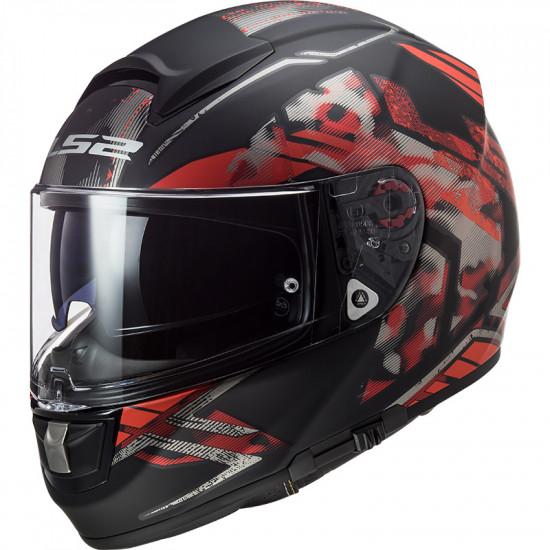 Casco integral LS2 Helmets FF397 VECTOR HPFC EVO Stencil Matt Black Red