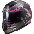 Casco integral LS2 Helmets FF397 VECTOR HPFC EVO Stencil Matt Titanium Purple