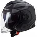 Casco jet LS2 Helmets OF570 VERSO Solid Marker Matt Black Titanium