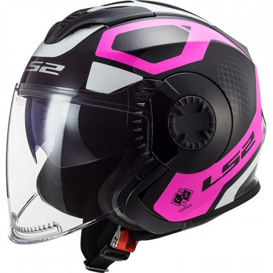 Casco jet LS2 Helmets OF570 VERSO Solid Marker Matt Black Violet