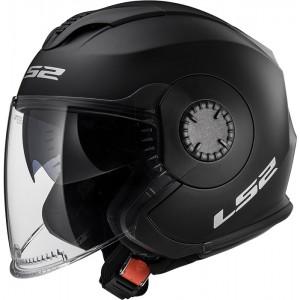 Casco jet LS2 Helmets OF570 VERSO Solid Matt Black