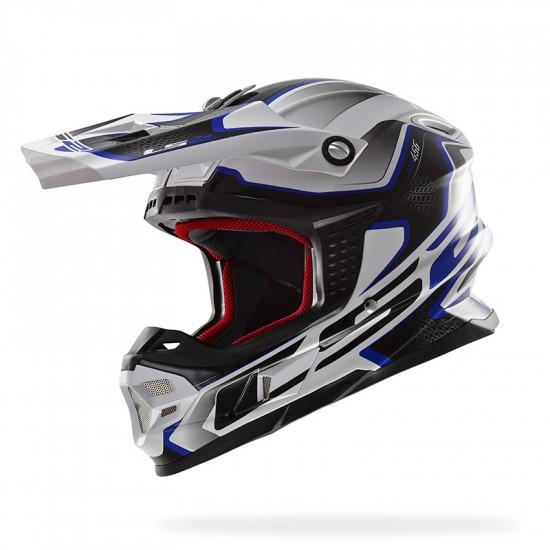 SUPEROFERTA: Casco cross/enduro LS2 Helmets MX456 COMPASS White-Blue